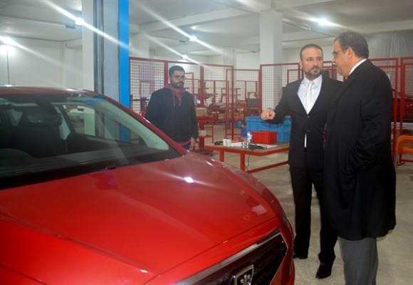 Sucuoğlu Günsel'in üretileceği fabrikayı ziyaret etti