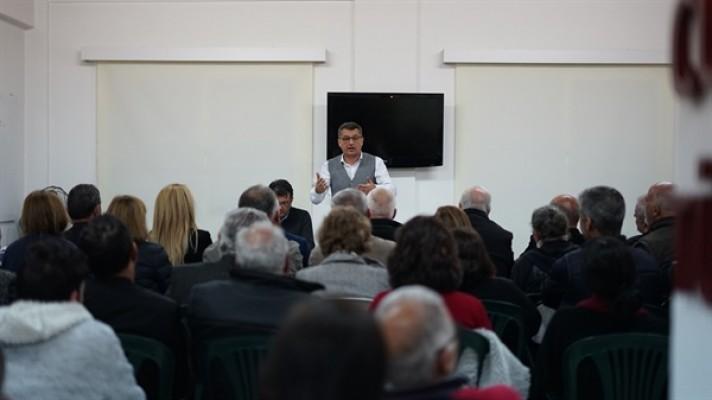 Erhürman Gönyeli'de vatandaşlarla bir araya geldi...