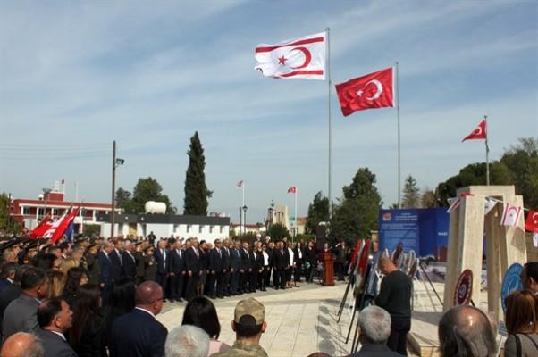 Güzelyurt'ta Baf Şehitleri Anıtı önünde tören düzenlendi