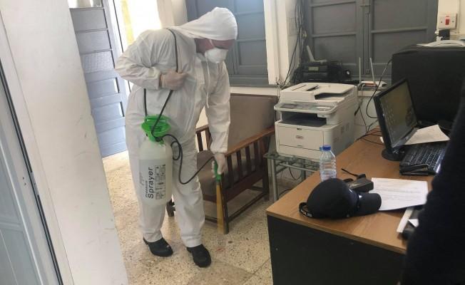 Lefke Belediyesi de virüse karşı tedbirini aldı...