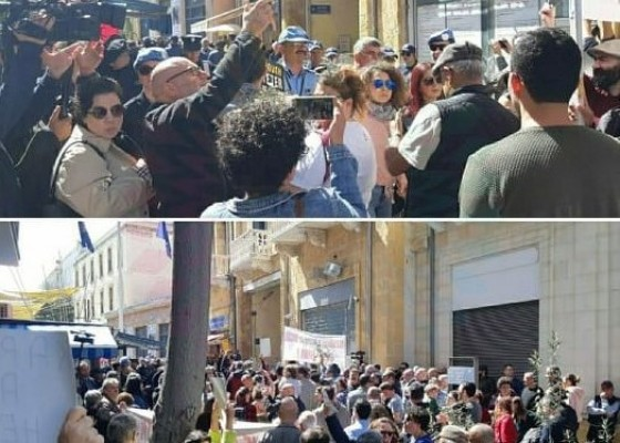 LOKMACI'DA EYLEM!..Rum polisi eylemcilere biber gazı sıktı!