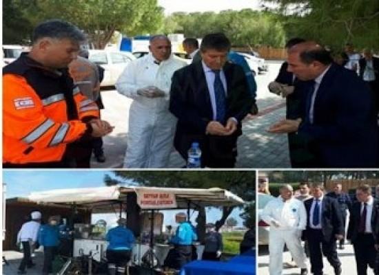 Salamis Otel'in yemeklerini Sivil Savunma Teşkilatı sağlıyor
