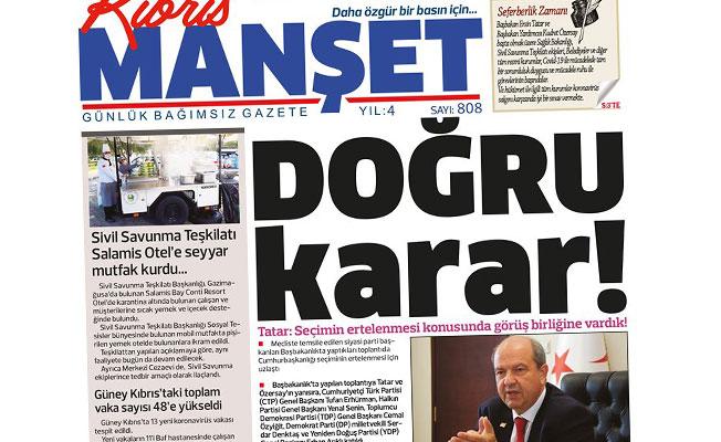 Tatar: Seçimin ertelenmesi konusunda görüş birliğine vardık!