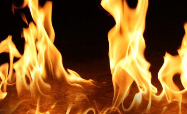 Gazimağusa'da arazi yangını