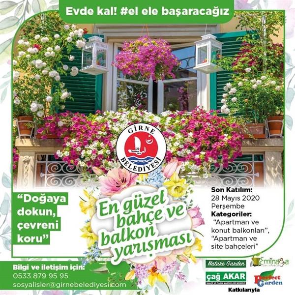 """Girne Belediyesi """"En Güzel Bahçe, Balkon Yarışması"""" düzenliyor"""