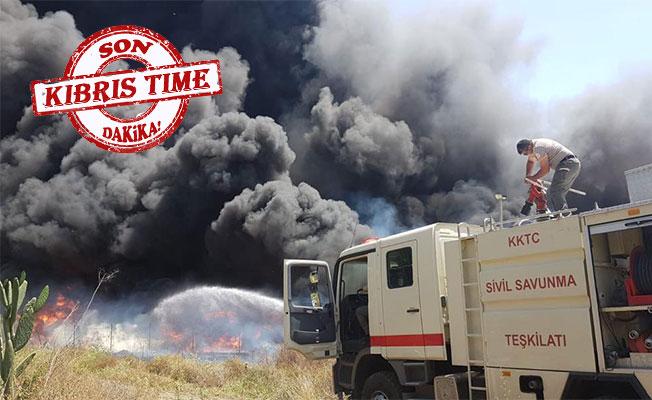 Haspolat Sanayi Bölgesi'nde yangın!