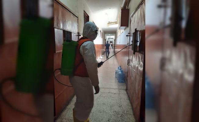 Merkezi Cezaevi, Sivil Savunma ekipleri tarafından ilaçlandı