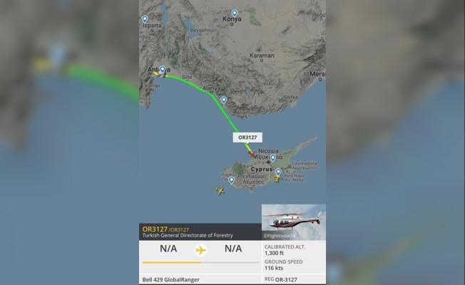 Özersay: Türkiye'den üçüncü helikopter de geldi