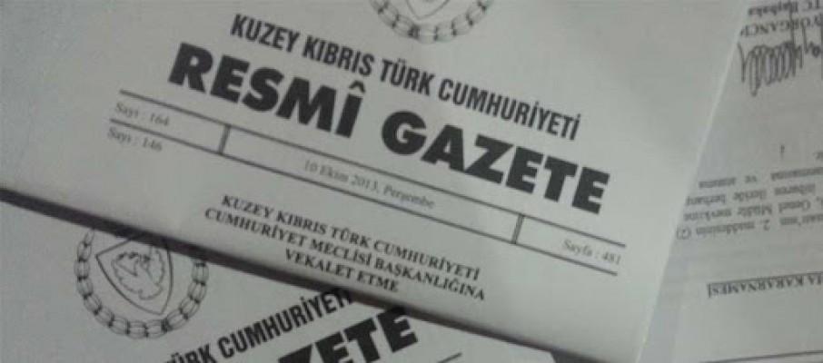 Resmi Gazete'den haberler...