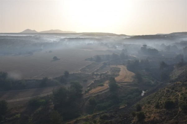 Tepebaşı'ndaki yangında 7 bin 500 dönümlük alan yandı