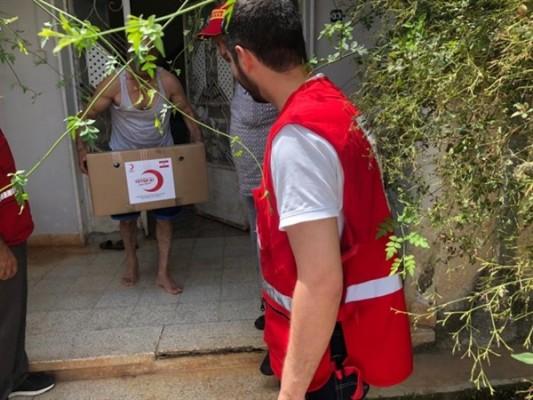 Türk Kızılayı'ndan ihtiyaçlı ailelere gıda yardımı
