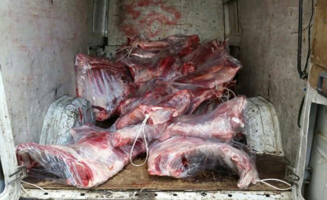 95 kilo kaçak et ele geçirildi...