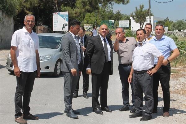 Atakan Girne Batı Çevre yolu 1. etap çalışmalarını denetledi