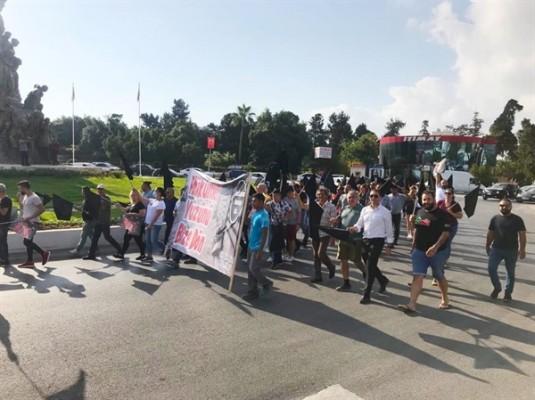 Birleşik eylem komitesi Gazimağusa'da da eylem yaptı
