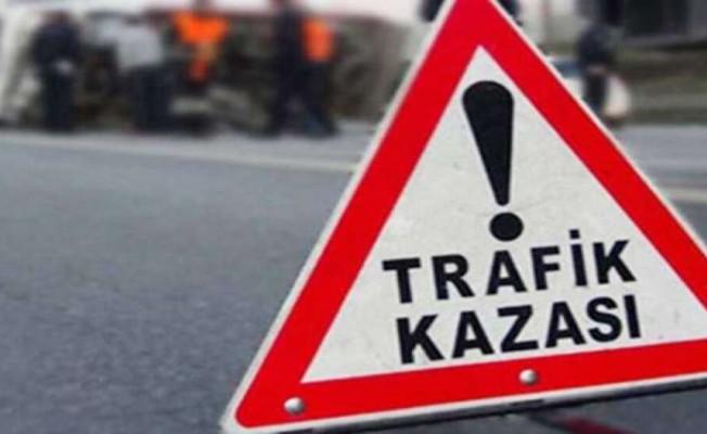 Girne Dağyolu'nda korkutan kaza...