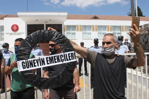 Güney'de çalışanlar eyleme perşembe de devam edecek