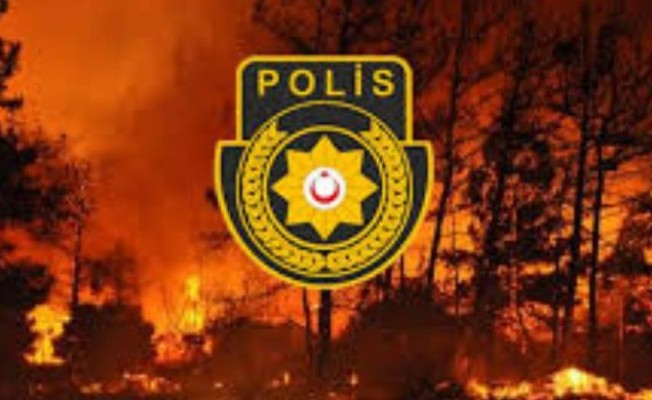 Lefke'de  ormanlık alanda yangın çıktı