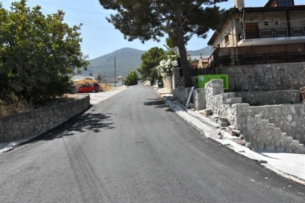 Girne Belediyesi, asfaltlama çalışmalarına devam ediyor