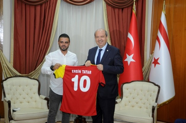 Tatar, Çetinkaya Spor Kulübü yönetim kurulunu kabul etti