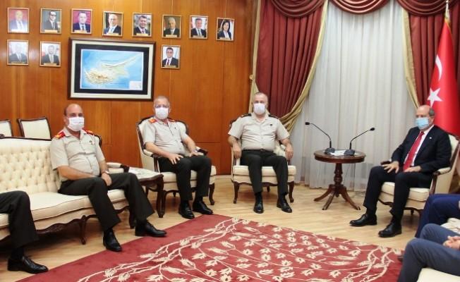 Tatar, KTBK ve GKK Komutanlarını kabul etti