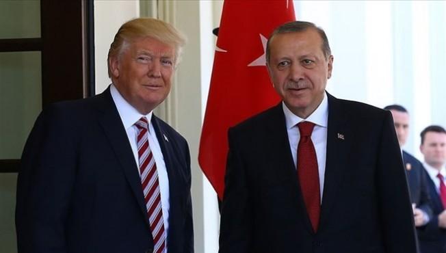 Erdoğan, ABD Başkanı Trump ile görüştü