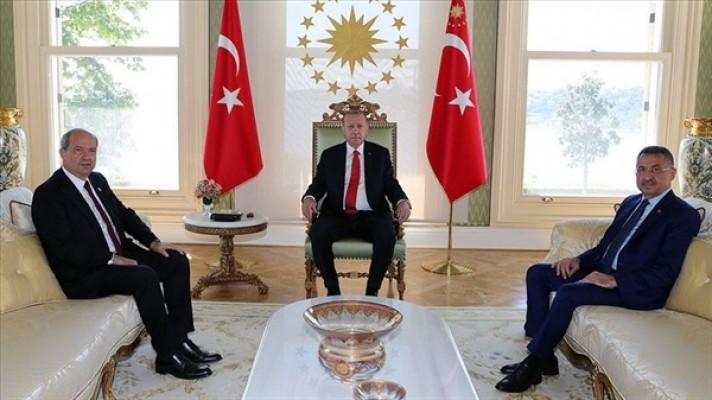 Erdoğan, Başbakan Ersin Tatar'ı kabul etti