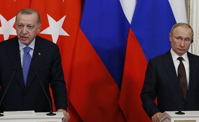 Erdoğan, Putin'le Doğu Akdeniz'i görüştü