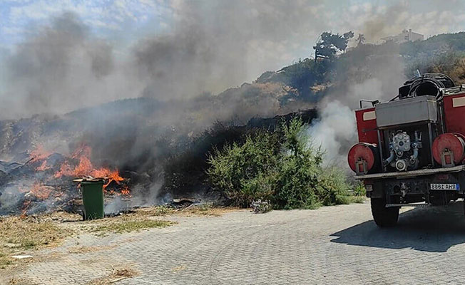 Esentepe'de korkutan yangın!