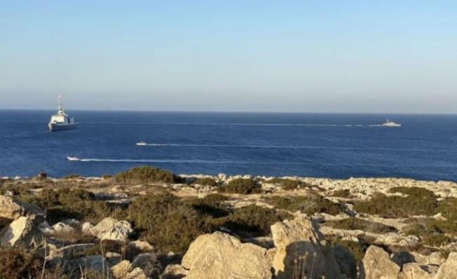 Fransız firkateyn Kıbrıs'ın doğu kıyılarında...