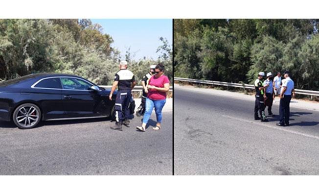 Gazimağusa'da trafik kazası