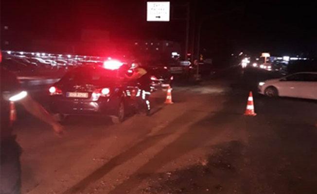 Lefkoşa'da yağ dökülen yol trafiğe açıldı