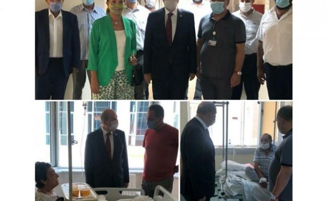 Tatar Gazimağusa Devlet Hastanesi'ni ziyaret etti