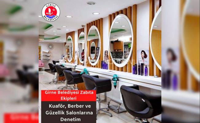 Girne'de berber- kuaför ve güzellik merkezleri denetledi...