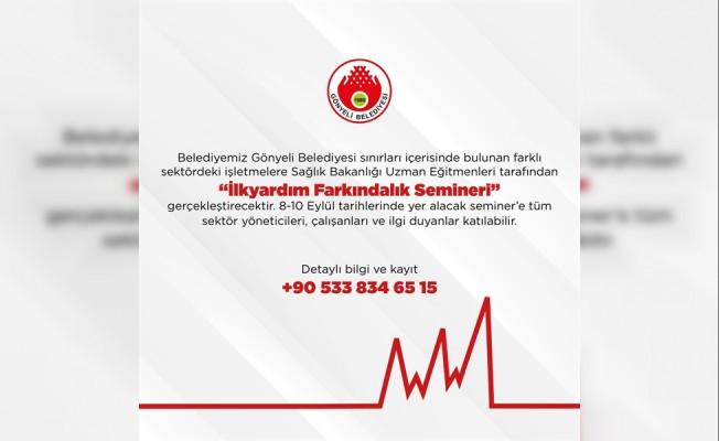 """Gönyeli Belediyesi 'İlkyardım Farkındalık Seminler""""i düzenliyor"""