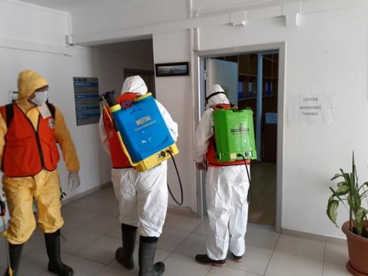 Sivil Savunma dezenfekte çalışmalarına devam ediyor...