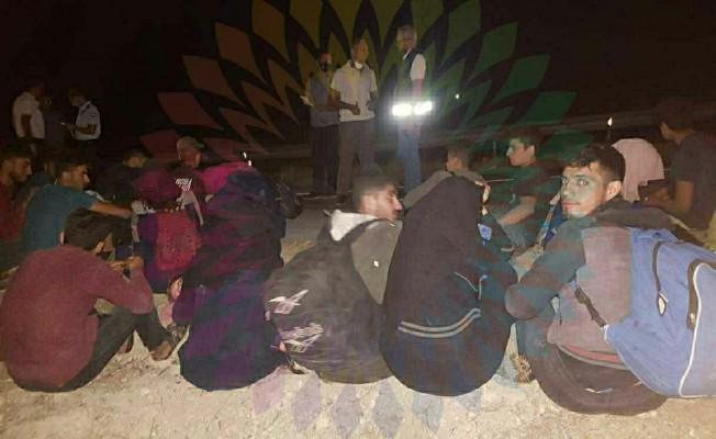 Avtepe - Kuruova köyleri arasında Suriye uyruklu 32 kişi tespit edildi