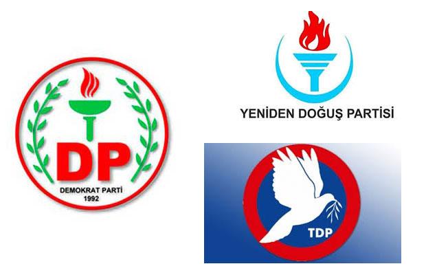 DP, YDP, TDP MYK'ları toplanıyor...