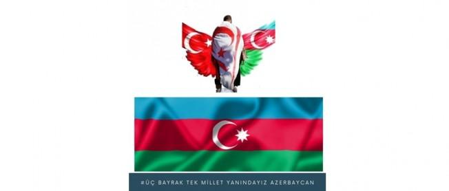 Girne'de 'Üç Bayrak , Tek Millet' etkiniği düzenlendi...
