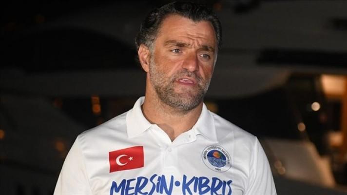 Mersin'den KKTC'ye yüzme hedefi yarım kaldı