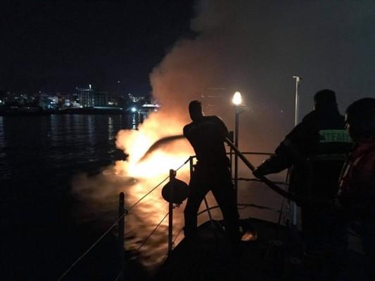 Ömür Erçıka'ya ait tekne önce patladı sonra battı