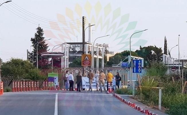 Rumlar Derinya'da Maraş'ın açılmasına karşı eylem yaptı