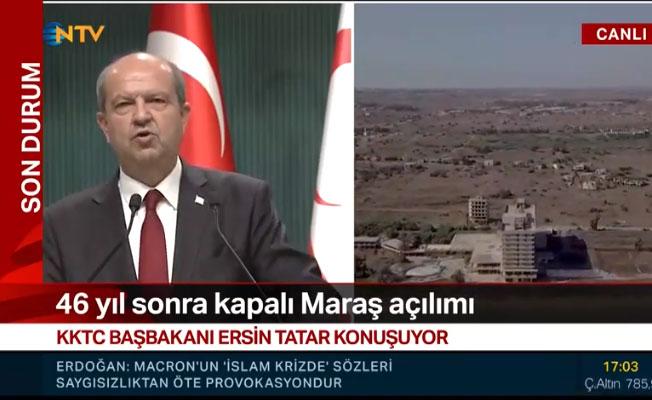 Tatar: Kapalı Maraş'ın kıyıları Perşembe günü açılıyor!
