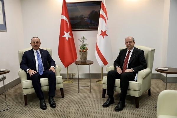Tatar, Türkiye Dışişleri Bakanı Çavuşoğlu'nu kabul etti