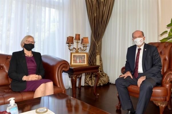 Cumhurbaşkanı Tatar Spehar'ı kabul etti
