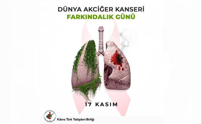 KTTB: Akciğer kanseri dünyada ve ülkemizde giderek artıyor