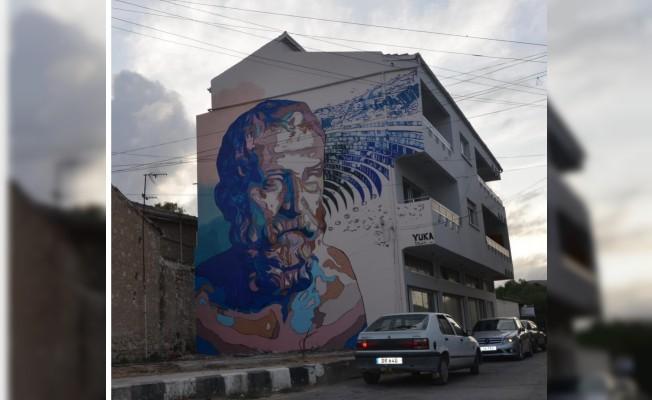 Lefke'de farklı tarzda üç duvar resmi yapıldı...