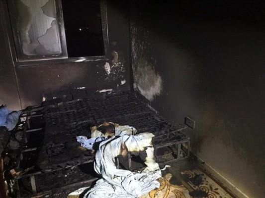 Demirhan'da bir evde elektrik sobasından yangın çıktı
