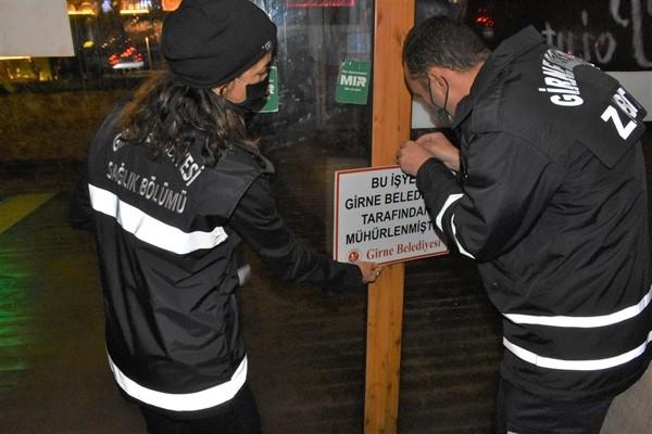 Girne Belediyesi 6 işletmeyi mühürledi