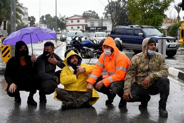 Güneyde çalışan işçilerin eylemi tamamlandı