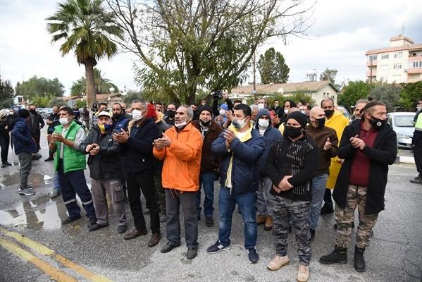 Güneyde çalışanlar Başbakanlık önünde eylemde…